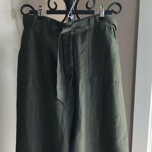 Coldwater Creek Sz 14 Natural Fit Linen Pants